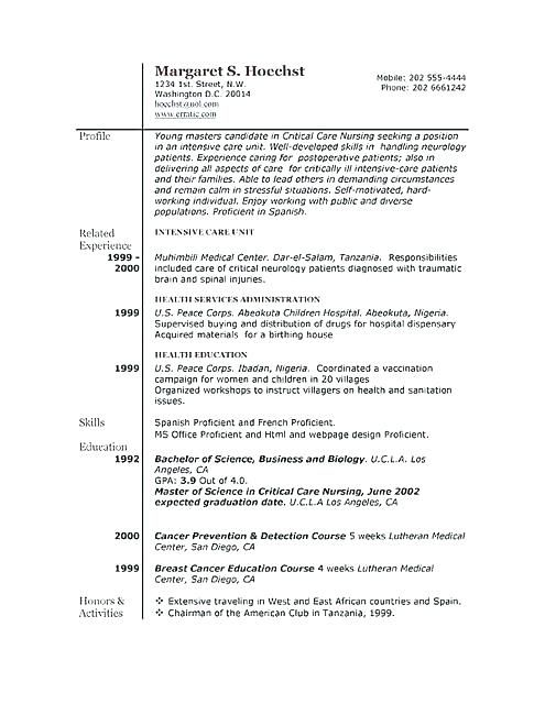 Free Example Of Resume Dispensary Examples