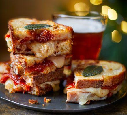 Membrillo, chorizo & cheddar toastie | BBC Good Food