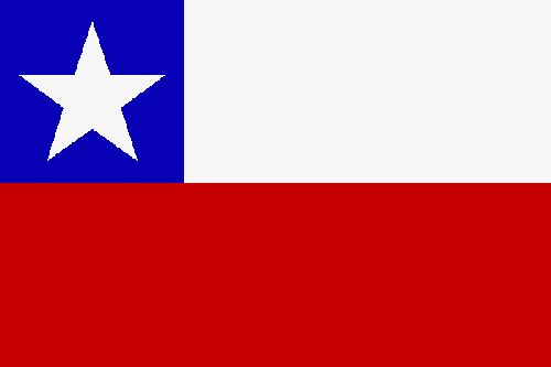 Chile Flag | The national flag of Chile, consists of two unequal horizontal bands of white and red and a blue square the same height as the white band in the canton, which bears a white five-pointed star in the center. It was adopted on October 18, 1817. The Chilean flag is also known in Spanish as La Estrella Solitaria[1] (The Lone Star).