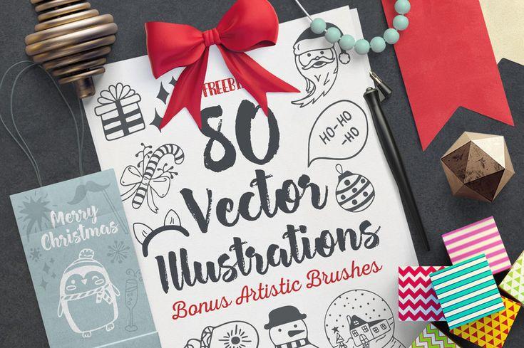 Cozy Christmas Vector Set #illustration #xmas