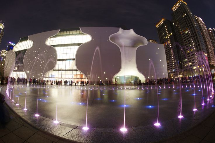 Night view from fish eye lens