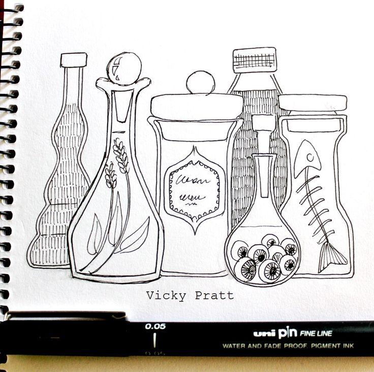 By Vicky Pratt. Unipin fine liner. For Inktober 2015. www.vicpratt.wix.com/vickypratt Find me on FB and IG Vicky Pratt - Illustrator.