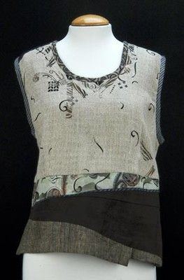 Diane Ericson top with stenciling and hand stitching as decoration