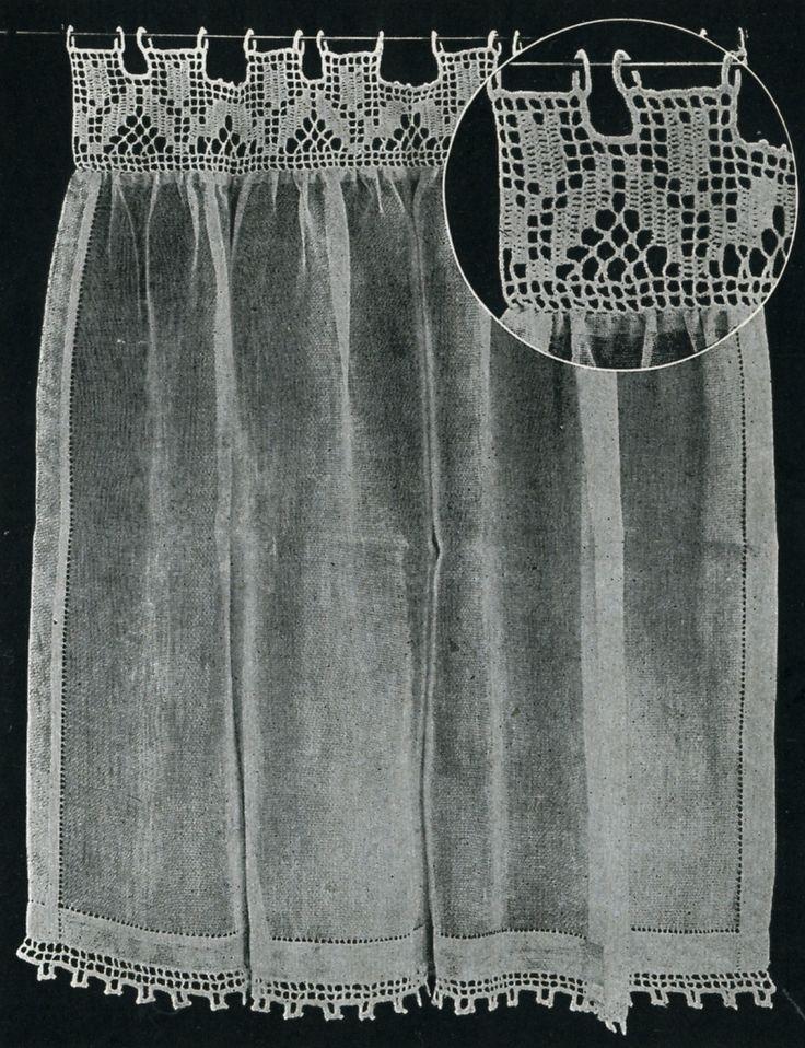 Vintage Filet Crochet Tulip Curtain via Etsy.