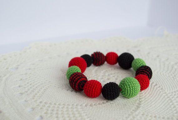 Crochet Teething Bracelet   Babywearing Bracelet  by MyFirstToy