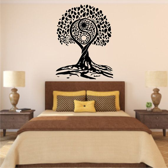 Tree Of Life YinYang Style Vinyl Wall Decal By Stickemupvinyls