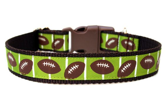 Hey, I found this really awesome Etsy listing at https://www.etsy.com/listing/164199142/football-dog-collar-1-sports-dog-collar