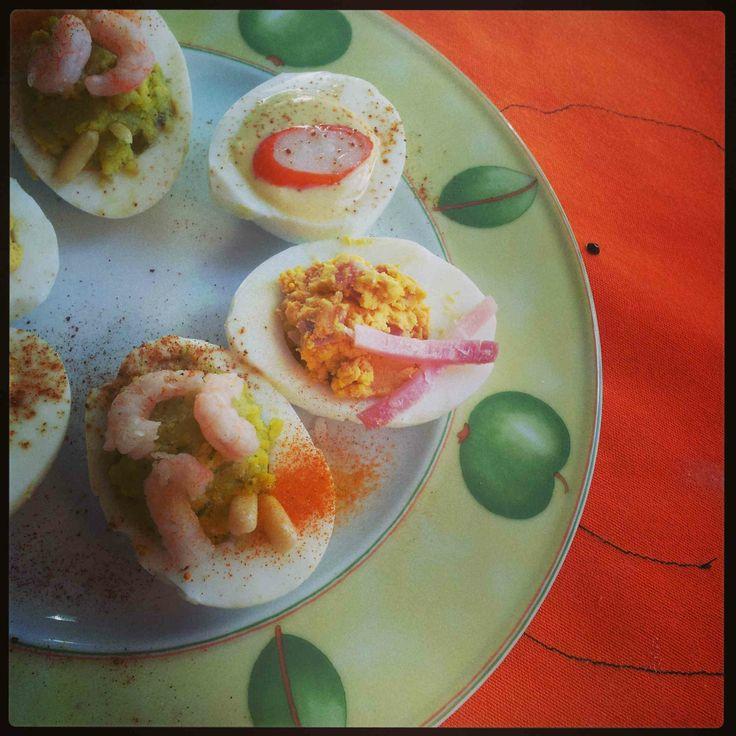 kitchen apron orange swarovski / eggs recipe by agecooks.com
