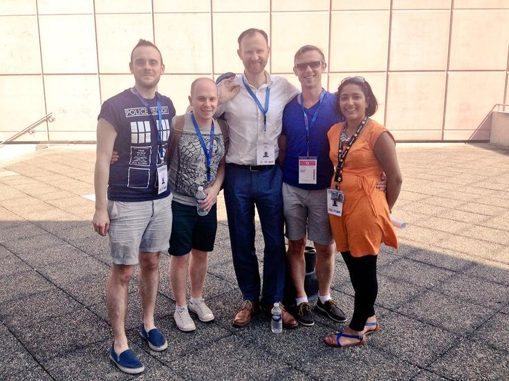 Sadly no @Markgatiss at #SDCC this year but we'll always have (Gay) Paris! Two years ago today...