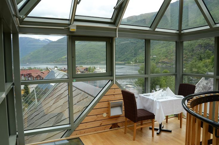 A dinner on the highest level with fjord-view: http://fretheimhotel.no/en/