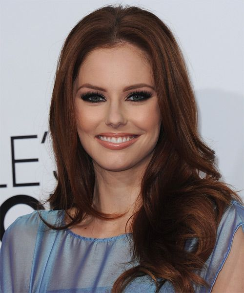 Alyssa Campanella Hairstyle - Long Straight Formal Layered - Hair Color: Medium Brunette. Click on the image to try on this hairstyle and view styling steps!