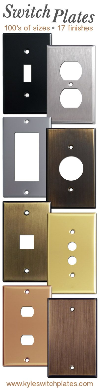 Order switch plates online in 100s of sizes. Bronze, copper, brass, stainless steel and more.