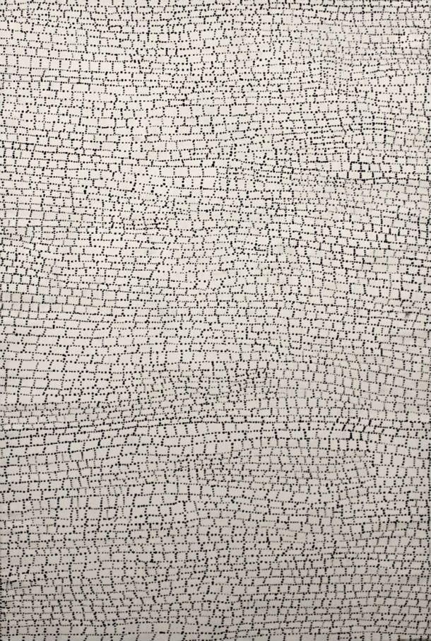 "Dorothy Napangardi ""Salt at Mina Mina"" 60""x40"" Acrylic on Canvas"