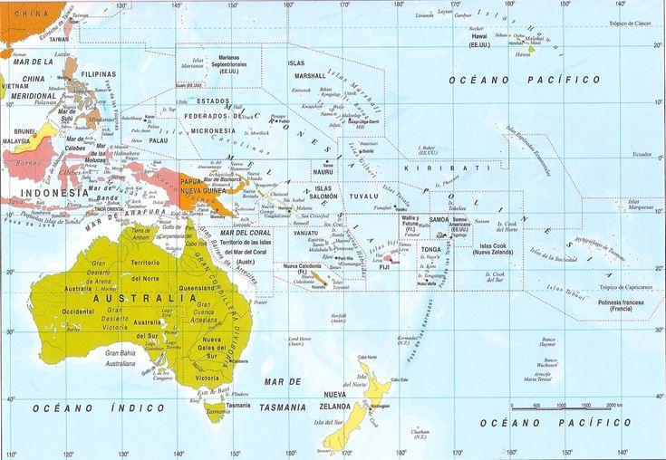 MAPA politico de oceania Grande Mapa de america online
