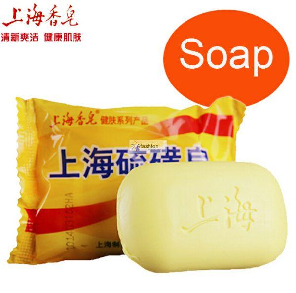 2 unids Shanghai jabón de azufre para la piel del acné Control de aceite antiprurítico ácaros de lavado de coches sabonete cuidado de la base de barras 85 g envío gratis