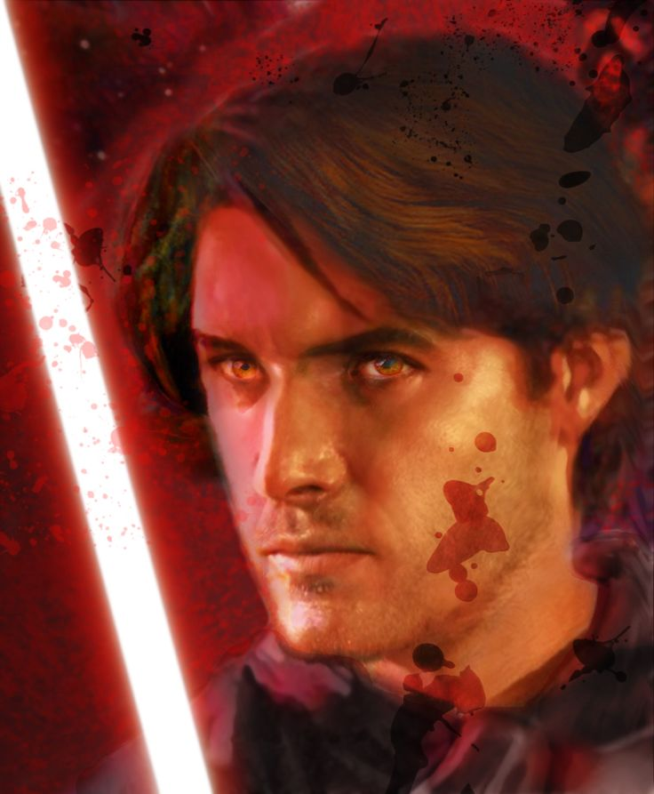 This is a rendition of Darth Caedus a.k.a Jacen Solo. He's the son of Han and Leia Solo and is the main character of the 'Legacy of the force' book series.