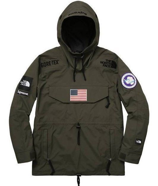 0d9582f2d Supreme X The North Face Trans Antarctica Expedition Pullover Olive ...