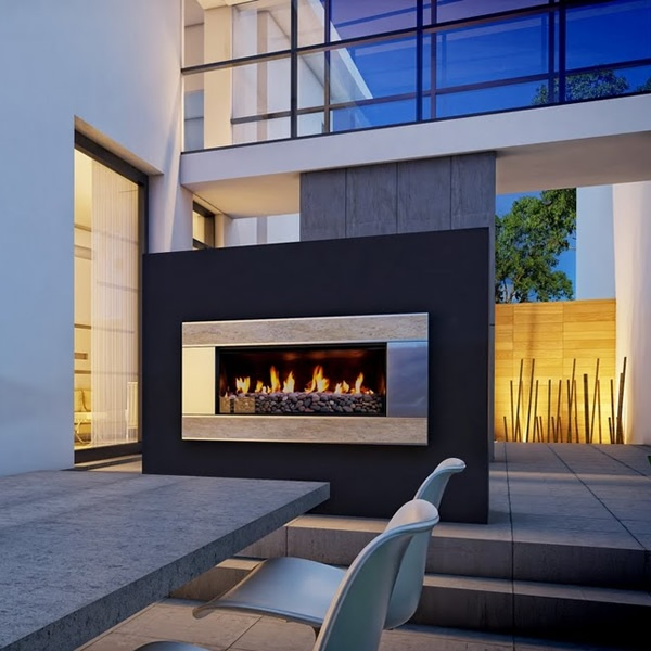 Escea Verta Travertine Outdoor Gas Fireplace Insert - Create the perfect  ambiance for your outdoor living space with the contemporary style of the  Escea ... - 17 Best Images About ESCEA Fireplaces On Pinterest Black Granite