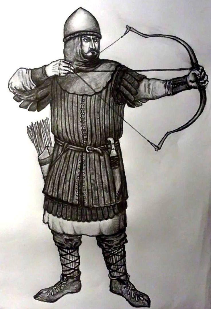 Hypotetické zobrazenie Valašského lukostrelca. Arcaş valah. reprezentare ipotetică.