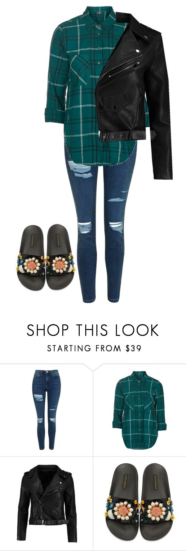 """""""Kyla"""" by kyaneeee on Polyvore featuring Topshop and Dolce&Gabbana"""