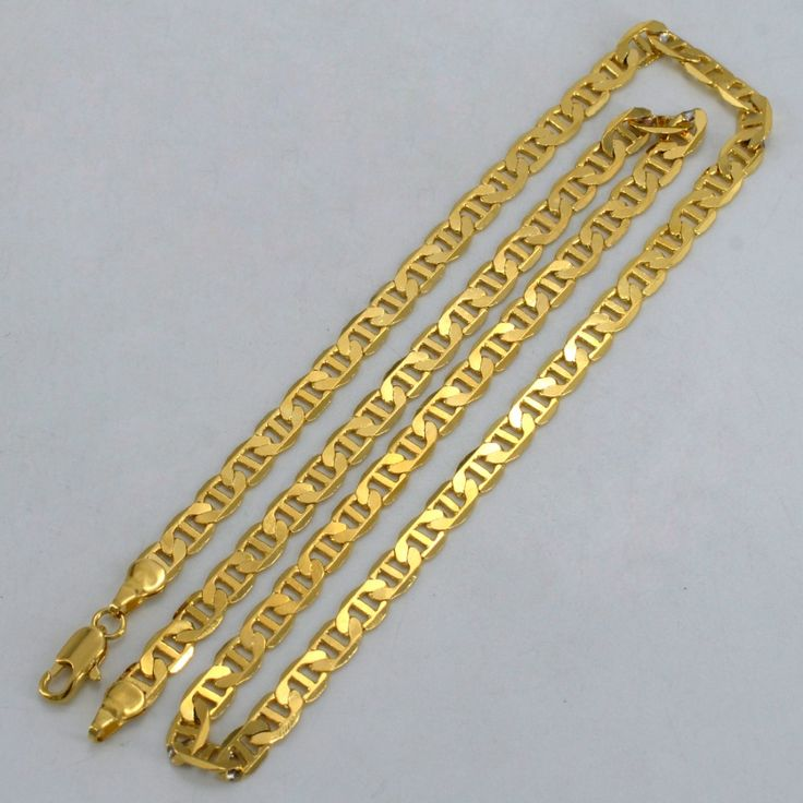 Gold Chain Necklaces Women/Men Gold Plated African Jewelry Fashion GP Chain Arab Items/Brazil/Nigeria Gifts #052402