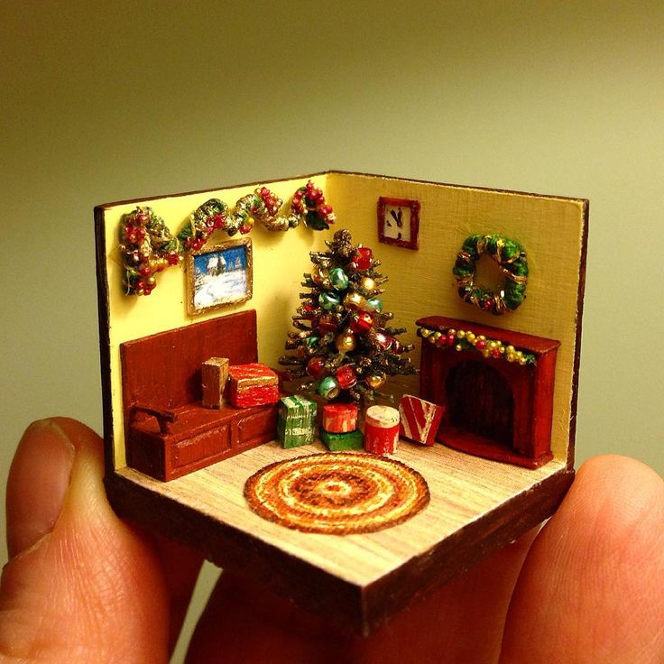 1404 Best Images About Miniature Christmas On Pinterest