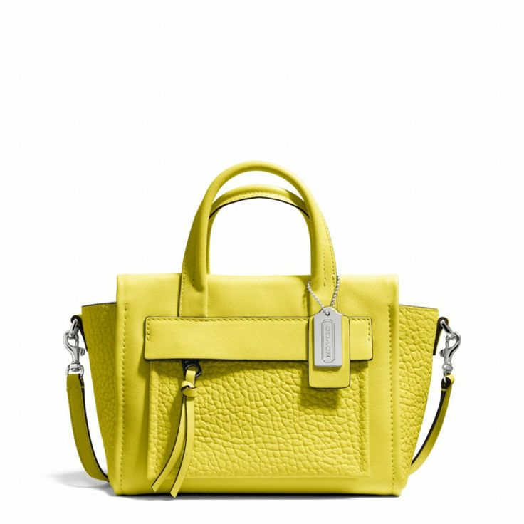 The Bleecker Mini Riley Carryall In Leather from Coach Just got this in the fab green!!! New summer bag:)