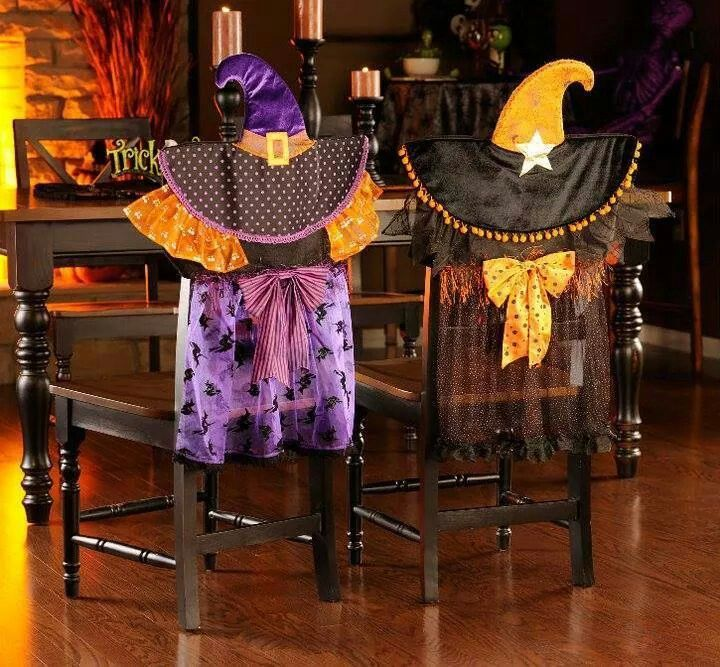 Chair covers  Holidays  Fall in 2019  Halloween Halloween party themes Halloween crafts