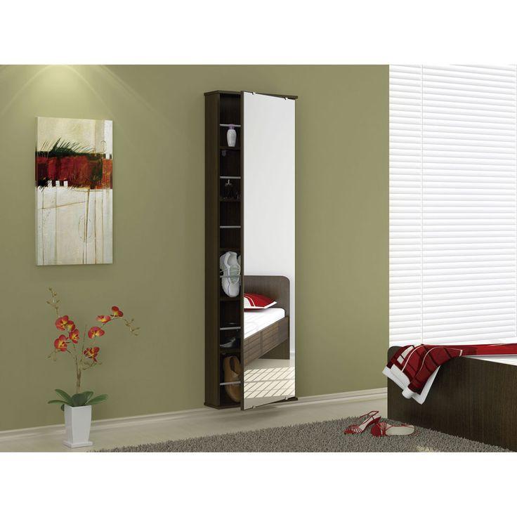 Ideia de sapateira com espelho na porta http://www.casasbahia.com.br/Sapateira-Politorno-Itabuna-p-12-Pares-Tabaco-61414.html