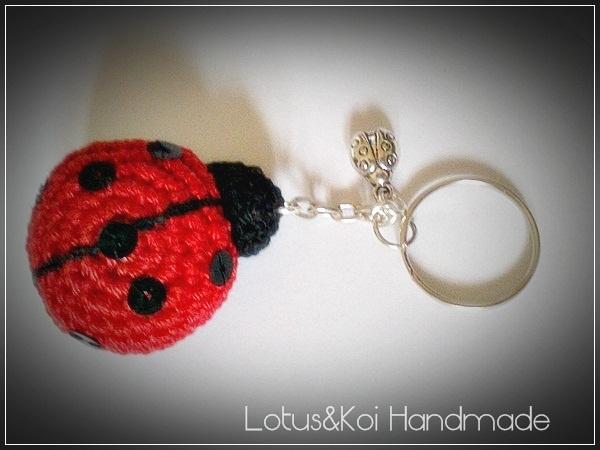 Amigurumi Ladybug : Amigurumi Ladybug Key Chain Crochet Key Chains ...