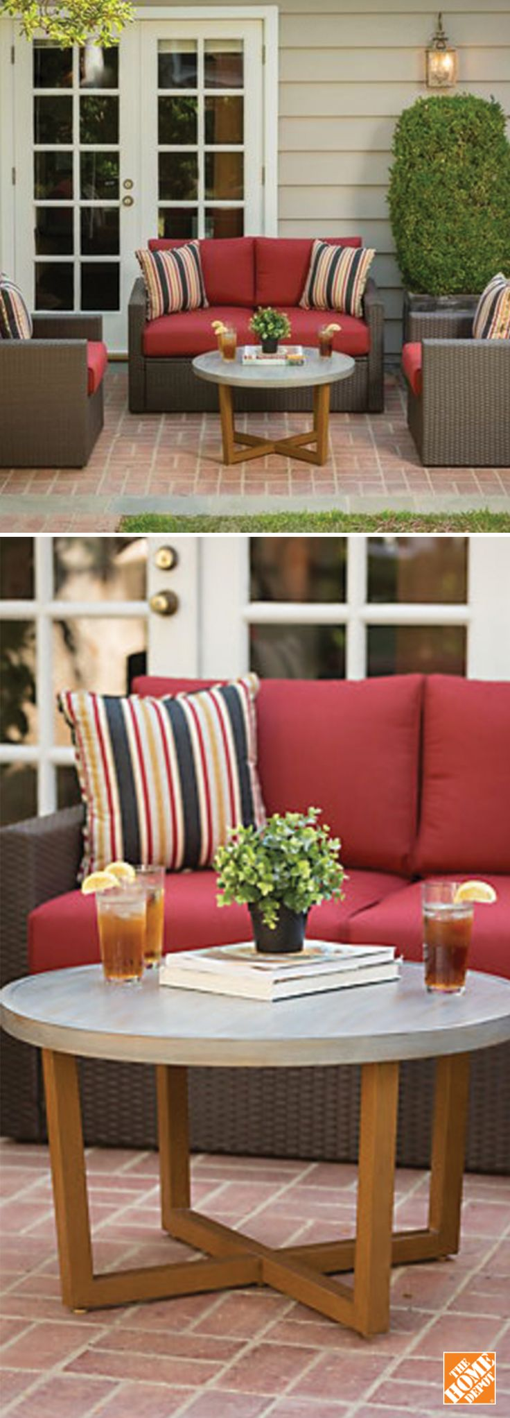 The clean lines of this outdoor furniture are warmed by the rich texture and hues of wicker, while plush, generous cushions allow for relaxation and comfort. Shop now at HomeDepot.ca: http://hdepot.ca/2qlrIfR