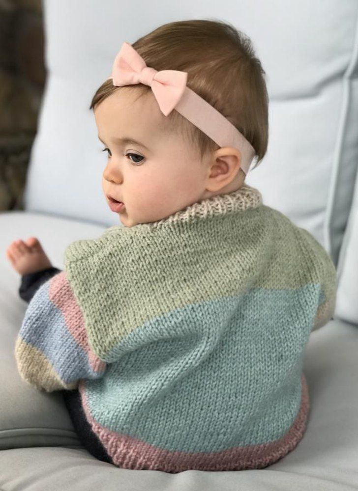 f5d197d5b Baby Cardigan in Plymouth Yarn Hot Cakes FREE Knitting Pattern ...