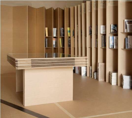 The Foldaway Bookshop Is An Innovative Bookstore Designed By Campaign Design This Made Entirely Out Of Cardboard And Stocks A Variety