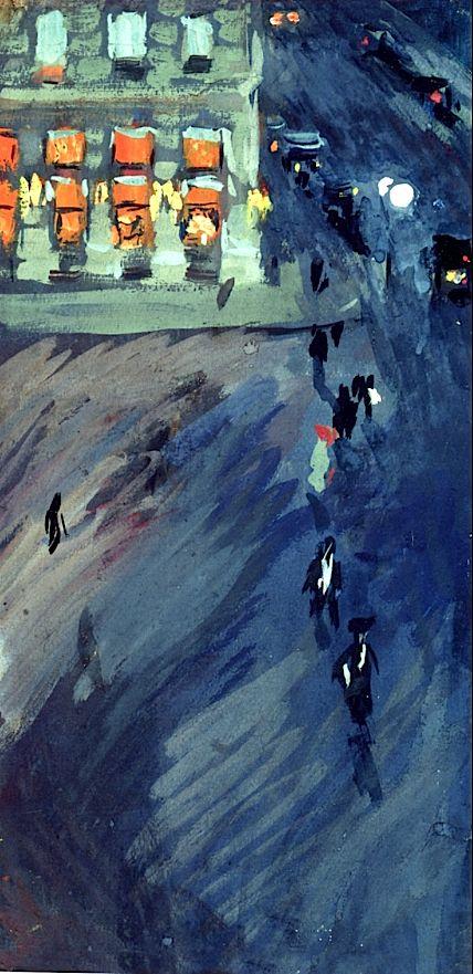 Plaza Hotel, New York / Joaquin Sorolla y Bastida - 1911