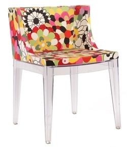 New replica Phillipe Starcke Mademoiselle print dining  chairs