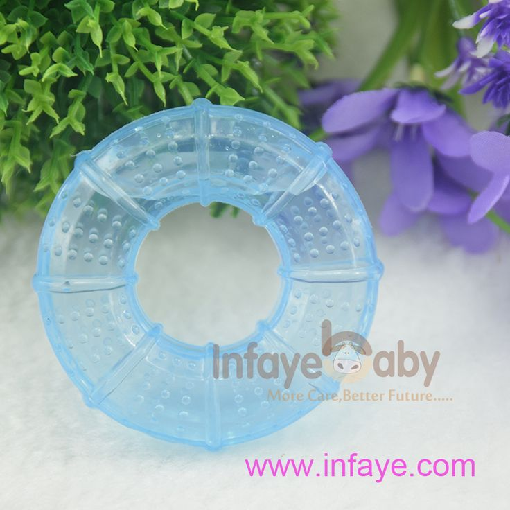 signs of teething in babies and  Pretty in light blue Teether Water Filled Baby Teething Rings