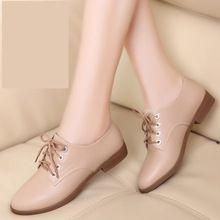 Cuero genuino zapatos Oxford para mujeres pisos nuevos 2015 forman a mujeres mocasines sapatos femininos sapatilhas mujer(China (Mainland))