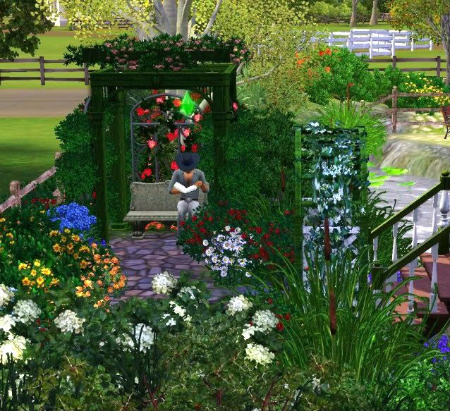 Brilliant Garden Ideas Sims Decor Games Intended Inspiration