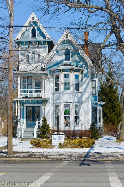 Batavia, NY | Flickr - Photo Sharing! Queen Anne architecture on home on Vine Street