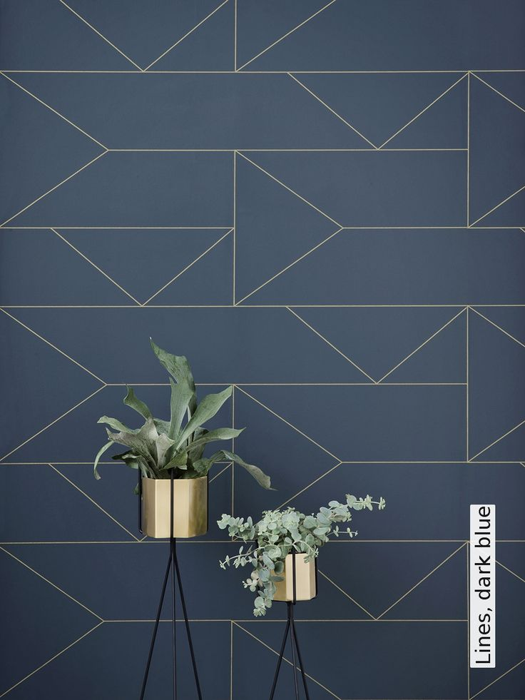 Tapete: Lines, dark blue - Die TapetenAgentur