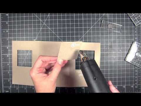 Create a tri-fold, double-layered window card using straight and decorative edge dies by Julie Ebersole