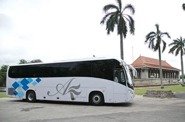 check out our branded coaches - parked at the Independence Square