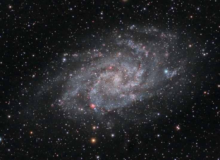 GALAXIA DEL TRIÁNGULO GALAXIA ESPIRAL M33, OBJETO MESSIER 33 ...