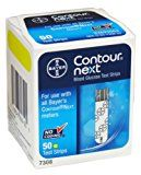 Contour-Next Bayer Blood Glucose Test Strips, 100 Count  by Contour-Next