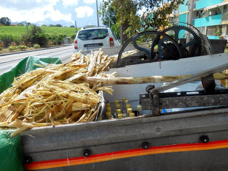 Fabrication jus de canne artisanal, Guadeloupe