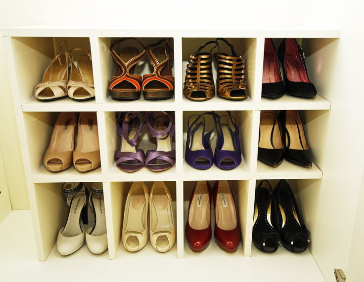 Customised shoe storage designed and commissioned by Organised Chaos, Ireland's #1 organisation expert providing professional Home and Office organising and decluttering services in Dublin, Ireland and Virtual Organising services worldwide