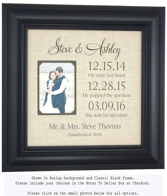 Personalized Frame Bride Groom Wedding Gift by PhotoFrameOriginals
