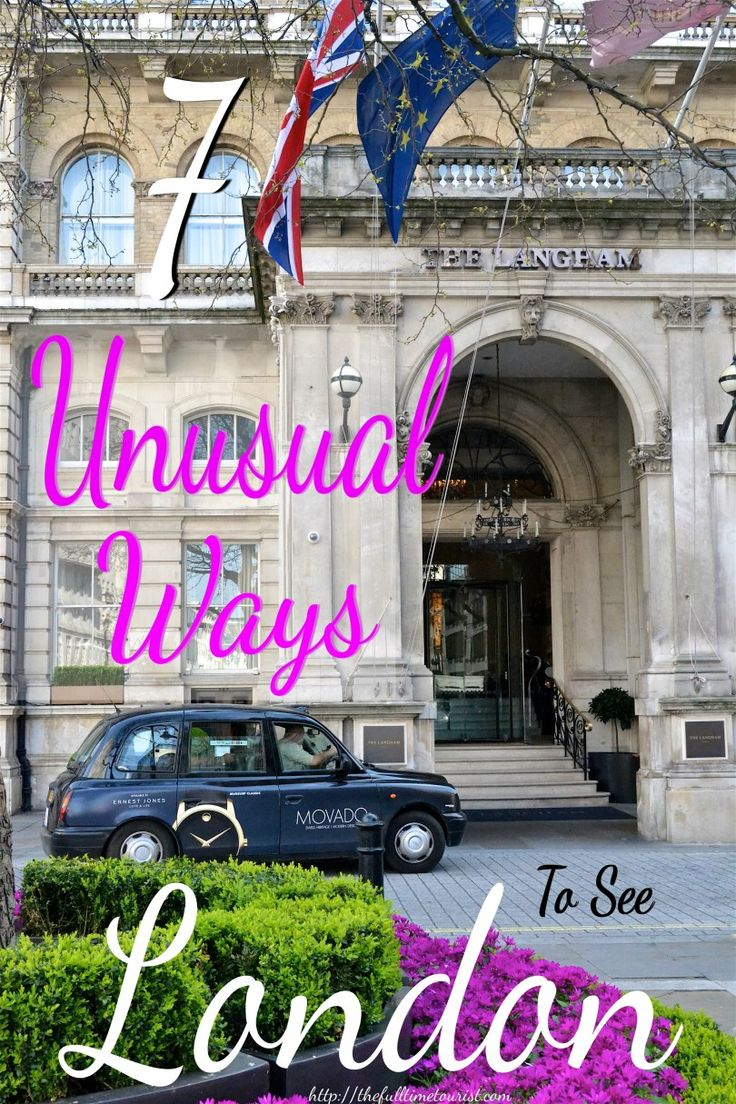 Whether you're combining iconic London sights with traditional British activities or getting a fresh perspective, here are 7 unusual ways to see London. http://thefulltimetourist.com/7-unusual-ways-see-london/?utm_campaign=coschedule&utm_source=pinterest&utm_medium=The%20Full-Time%20Tourist&utm_content=7%20Unusual%20Ways%20To%20See%20London%20-%20The%20Full-Time%20Tourist
