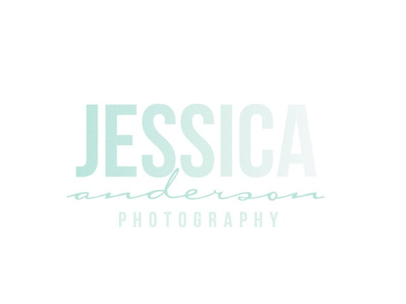 Custom Logo Design Premade Logo and Watermark for Photographers and Small Crafty Boutiques Ombre Watercolored Text Logo