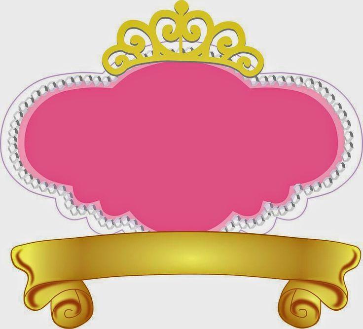 Fiesta de Princesas: Marcos, Toppers o Etiquetas para Imprimir Gratis. | Ideas y material gratis para fiestas y celebraciones Oh My Fiesta!